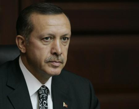 Turkey's Prime Minister Tayyip Erdogan attends a meeting of his ruling AK Party in Ankara