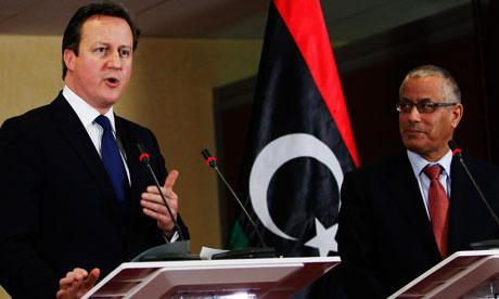 David Cameron and Ali Zeidan