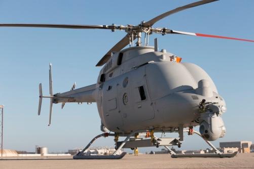 Northrop Grumman MQ-8C Fire Scout test preparations at Naval Bas