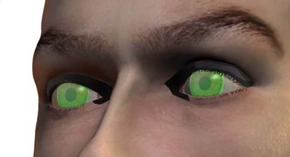 Night vision contact lens 1