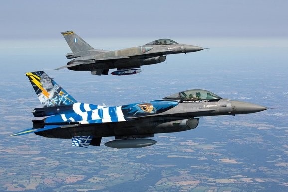 Greece Air Force Zeus F-16 RIAT15 2