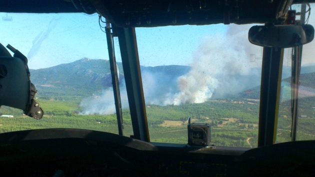Greece Army Chinook Fire 1
