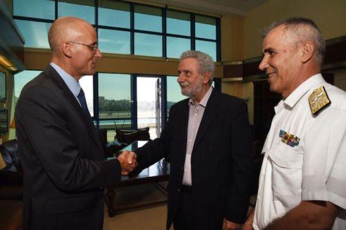 Greece Coast Guard Danish Ambassador