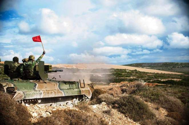 Greece Army BMP-1 ZU-23